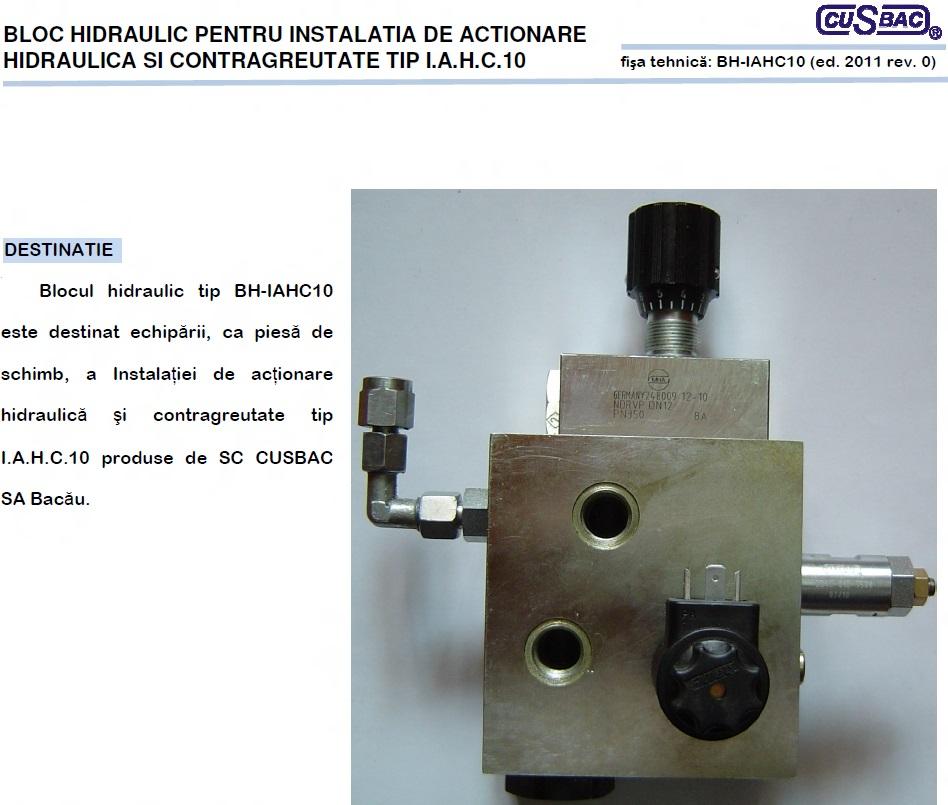Bloc Hidraulic IAHC